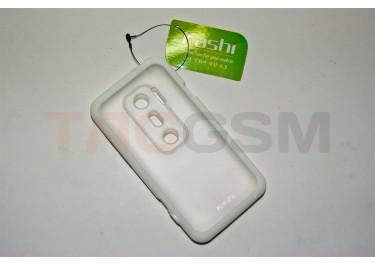 Задняя крышка KSH HTC EVO 3D силикон-пластик+защитная пленка белая