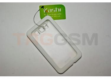 Задняя крышка KSH HTC HD2 силикон-пластик+защитная пленка белая
