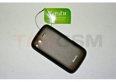 Задняя крышка KSH HTC TITAN / S510 силикон-пластик+защитная пленка черная