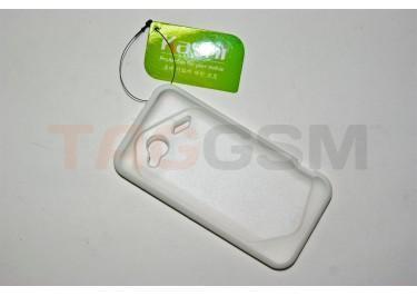 Задняя крышка KSH HTC incredle 4G силикон-пластик+защитная пленка белая