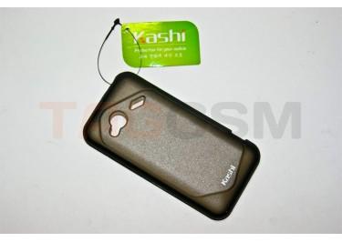 Задняя крышка KSH HTC incredle 4G силикон-пластик+защитная пленка черная