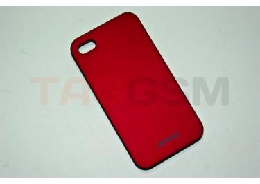 Задняя накладка Jekod для iPhone 4S (красная)