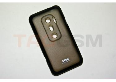 Задняя крышка EN HTC EVO 3D силикон-пластик+защитная пленка черная