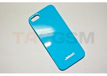 Задняя накладка Jekod для iPhone 5 (глянцевая голубая)