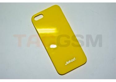 Задняя накладка Jekod для iPhone 5 (глянцевая жёлтая)