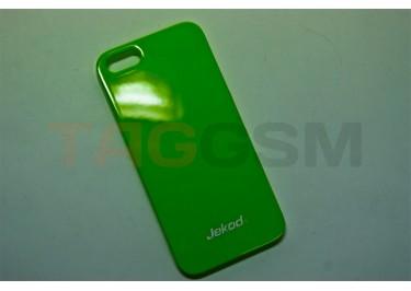 Задняя накладка Jekod для iPhone 5 (глянцевая зелёная)