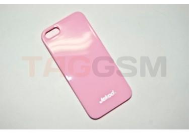 Задняя накладка Jekod для iPhone 5 (глянцевая розовая)