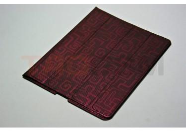 Чехол Slim Case IPAD2 чехол подставка №7 абстракция прорезиненный бордовый