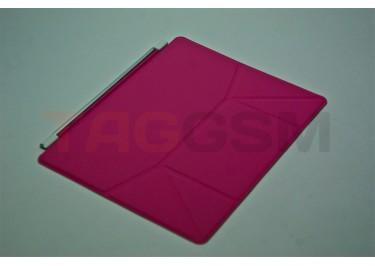 Чехол-подставка для iPad 3 Smart Cover (кожа розовая)