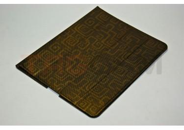 Чехол Slim Case IPAD2 чехол подставка №8 абстракция прорезиненный золотистый