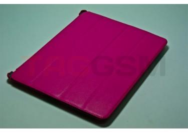 Сумка футляр-книга Jisoncase для iPad 3 (розовая без логотипа)