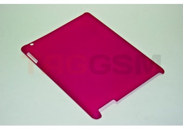 Чехол Case IPAD2 №2 прорезиненный-пластик розовый