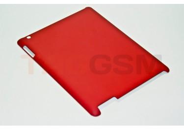 Чехол Case IPAD2 №5 прорезиненный-пластик красный