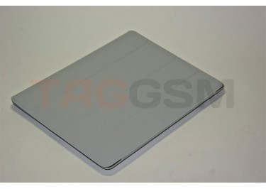 Чехол Case IPAD2 чехол подставка №1 пластик-кожа серый_протирка