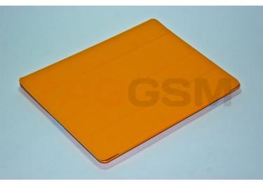 Чехол Case IPAD2 чехол подставка №6 пластик-кожа оранжевый+протирка