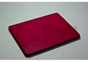 Сумка футляр-книга Jisoncase для iPad 3 (малиновый без логотипа)