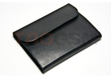 Сумка футляр-книга универсальная 5 дюймов кожа (чёрная)