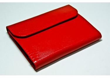 Сумка футляр-книга универсальная 5 дюймов кожа (варан красный)