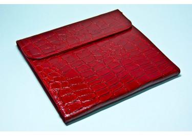 Сумка футляр-книга универсальная 10.2 дюймов (PocketBook A 10) кожа (крокодил красный)