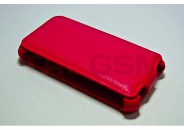Сумка футляр-книга Armor Case для HTC EVO 3D (Luxрозовая в коробке + плёнка)
