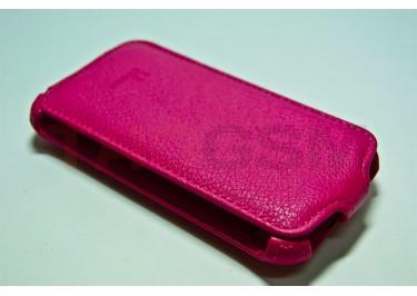 Сумка футляр-книга Armor Case для HTC Sensation XE (Lux розовая в коробке + плёнка)