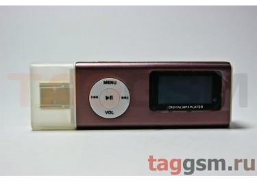 MP3 плеер-LCD+FM+USB+диктофон+ внешний динамик (MicroSD+науш+кабель) кофейный (№7)