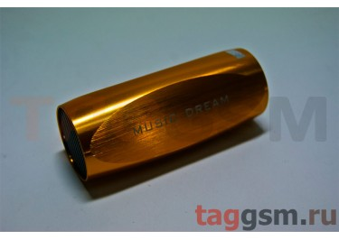 Колонки (MD-11) (Micro SD+USB+FM) (золото)