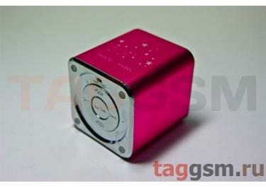 Колонки MD-07 (MicroSD+USB+FM) (розовая)
