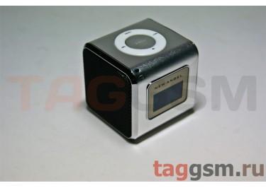 Колонка (MD-03-LCD) (Micro SD+USB+FM) (серебро)
