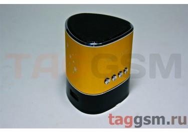Колонка (MD-01-LCD) (Micro SD+USB+FM) (золотистая)