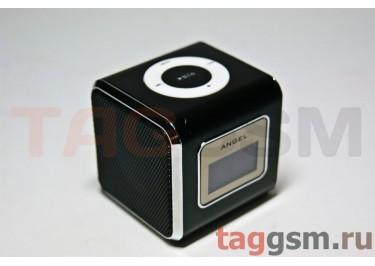 Колонка (MD-03-LCD) (Micro SD+USB+FM) (черная) (распродажа)