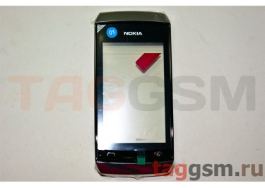 Тачскрин для Nokia 305 / 306 (Asha) (черный) в рамке, ОРИГ100%;