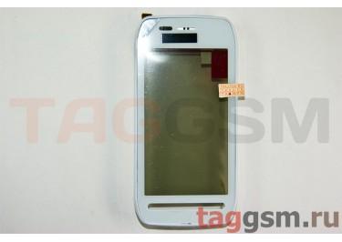 Тачскрин для Nokia 603 (белый) в сборе с переднейпанелью, ORIG100%