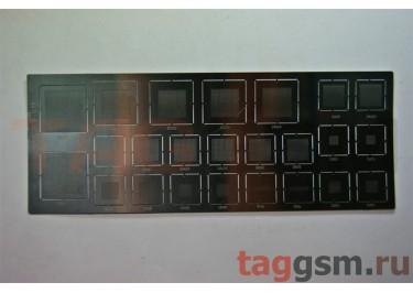 Трафарет BGA IC (универсальный 23) (шаг 0,5 + 0,65) (4x16, 10x10, 14x14, 18x18, 24x24, 30x30)