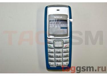 Корпус Nokia 1110 со средней частью + клавиатура (синий)