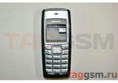 Корпус Nokia 1110 со средней частью + клавиатура (черный)