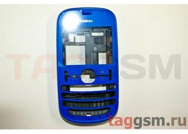 Корпус Nokia 200 Asha синий AAA