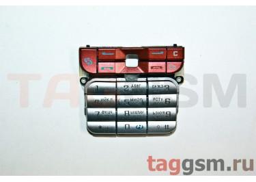 клавиатура Nokia 3230 бордо-серебро AAA