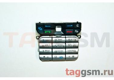 клавиатура Nokia 3230 черный-серебро AAA