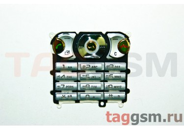 клавиатура Sony-Ericsson W890 серебро AAA