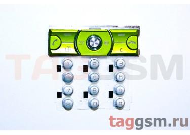 клавиатура Sony-Ericsson K660 серебро / зеленый AAA