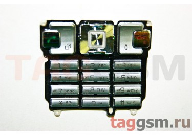 клавиатура Sony-Ericsson T700 серебро AAA