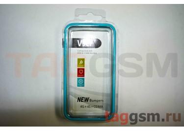 Бампер Vser для iPhone 4 / 4S (голубой)