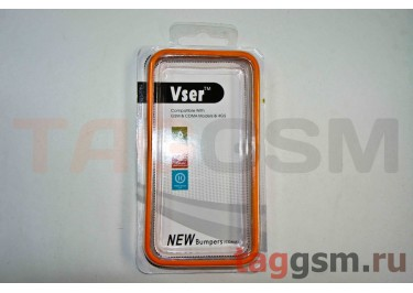 Бампер Vser для iPhone 4 / 4S (оранжевый)