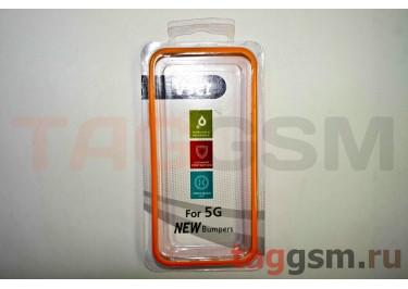 Бампер Vser для iPhone 5 (оранжевый)