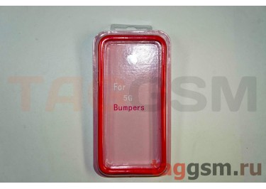 Бампер для iPhone 5 (красный)