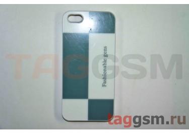 Задняя накладка Niorcase Fashionoble для iPhone 5(бело-серая)