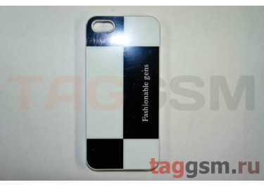 Задняя накладка Niorcase Fashionoble для iPhone 5(чёрно-белая)