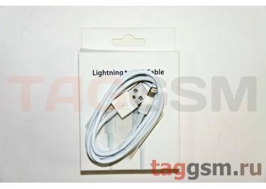USB для iPhone 7 / iPhone 6 / iPhone 5 / iPad4 / iPad Mini / iPod Nano (в коробке) белый