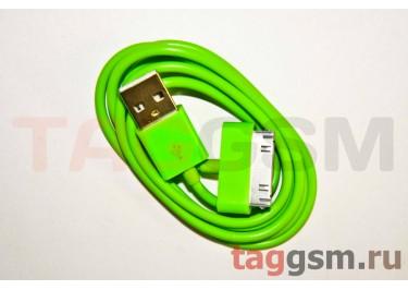 USB для iPhone 4 / iPhone 3 / iPad / iPad 2 / iPod зелёный техпак